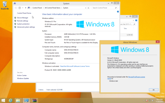 Activated Windows 8.1