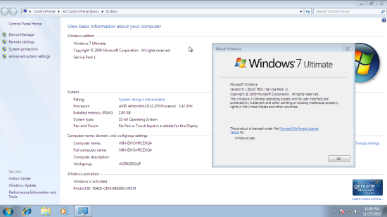 Windows 7 Ultimate Activated
