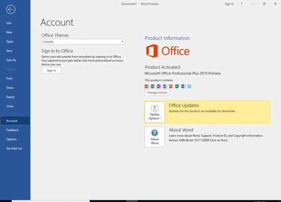 Office 2019 activate for free
