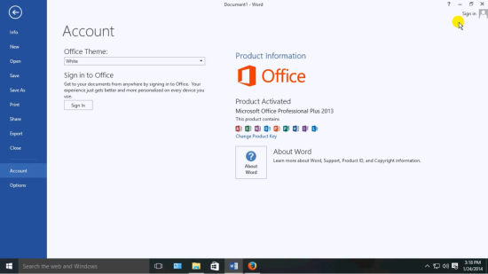 Activated Microsoft Office 2013